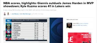 Jun 11, 2021 · the second round of the nba playoffs continues friday night with two games and yahoo sports' jared quay has the picks you need for all of the action. Nba Scores Highlights Giannis Outduels James Harden In Mvp Showdown