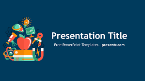 Blue And Orange Powerpoint Template Free Physics Powerpoint Template Prezentr Powerpoint Templates