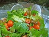 cabbage and mixed greens salad with light tangy herb vinaigrette