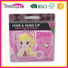 kids hair make up sketch portfolio colorful fancy painting book