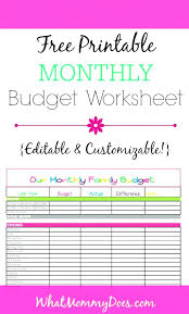 Sample Monthly Budget Templates Sample Templates Free Monthly Budget ...