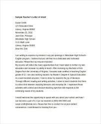 Intent Letter Sample For School 9 Intent Letter Templates Free Sample Example Format