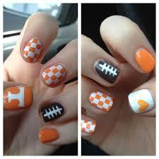 Tennessee Football Nail Designs Go Vols U Tenn Nails Tennessee Vols Nails Tennessee