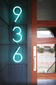 10 Modern House Number Ideas To Dress Up Your Home // Neon house numbers are