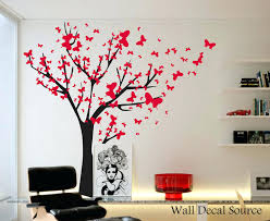 tree and butterfly wall decals wall decals ideas red wall decals red floral wall  stickers full . tree and butterfly wall decals ...