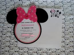 diy minnie mouse birthday invitations
