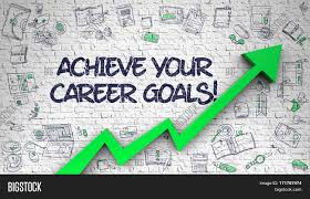 achieve your career goals drawn on white brickwall illustration achieve your career goals drawn on white brickwall illustration hand drawn icons achieve