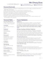 Mobile Developer Resume Web Developer Resume Developer Resume Sample Web Programmer Sample
