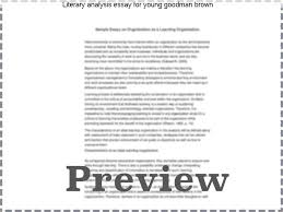 essays on young goodman brown madrat co essays on young goodman brown literary analysis essay for young goodman brown