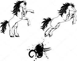 Sada Tetování Koně Stock Vektor Hayashix23 56768045