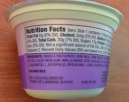 trader joe s greek yogurt nonfat vanilla bean