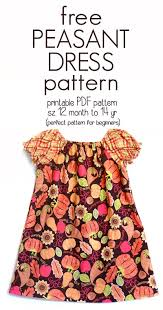 Free Printable Smocking Designs For Baby Dresses Learn How To Sew A Peasant Dress With This Free Peasant