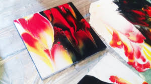 Dark To Light Acrylic Painting Fluid Art Dollar Store Coasters Light And Dark 2 Sites Dip