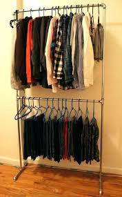 diy wall mounted clothes hanger pipe clothing rack wall mounted