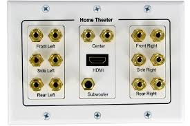 7 1 surround speaker wire wall banana post face plate hdmi port white 5 1 6 1 636391134224