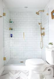 showers subway shower tile walk in shower design with subway tiles and brass accents subway