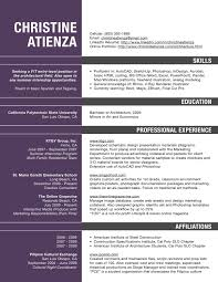 Architecture Resume Template Free Architecture Resume Pdf Resume For Architects Professionals 1