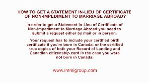 How To Get A Statement In Lieu Of Certificate Of Non Impediment To