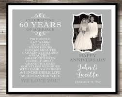 60 year anniversary photo gift digital print 60th anniversary present gift personalized milestone keepsake gift diamond anniversary