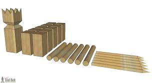 Lawn Game With Wooden Blocks DIY Kubb Set Her Tool Belt 11