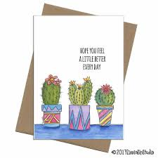 Get Well Card Southwest Succulents Trio Get Well Card