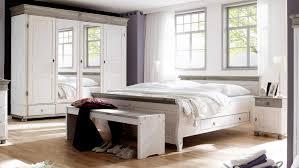Schlafzimmer Oslo 4 Tlg Set Kiefer Massiv Weiß Lava 180x200