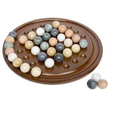Game With Marbles And Wooden Board Stunning Board Games Wooden Handmade Solitaire Game Set With Marbles Amp