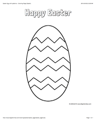 Easter Coloring Page With A Picture Of A Large Easter Egg With