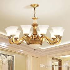 high end luxury new modern chinese american style copper chandelier unique special pantented antique brass for hotel villa home decoration chandeliers on