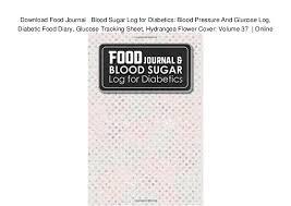 Download Food Journal Blood Sugar Log For Diabetics Blood
