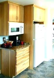 built in refrigerator cabinet. Refrigerator Cabinet Height Above Fridge Microwave And Kitchen Cabinets With Built O Corner In