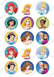 Disney Princess 2 Cupcake Toppers X 15 Sunshine Cake Toppers