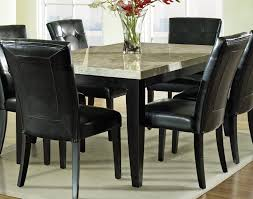 granite top dining table set. Awesome Design Of The Marble Dining Table Set With Black Leather Seats Ideas Added Grey Granite Top M