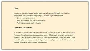 Profile Resume Examples. Resume Examples For Customer Service ...
