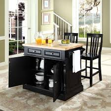 Furniture Kitchen Island Crosley Furniture Kf300062bk Oxford Butcher Block Top Kitchen