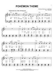 pokemon sheet music piano pokemon theme piano sheet music piano music pinterest piano