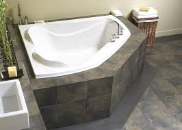 bathtub against two walls ideas