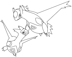 Legendary Pokemon Coloring Pages Latios And Latias Coloringstar