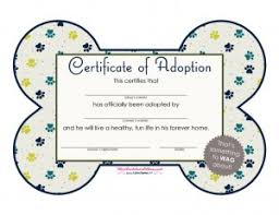 dog birth certificates free printables dog adoption certificates big dot of happiness