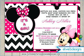 Birthday Invite Templates Free To Download Delectable Minnie Mouse Invitation Template Free Download Mickey Mouse