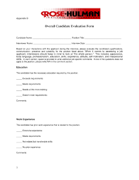 candidate assessment form sample 9 examples of candidate evaluation forms pdf examples