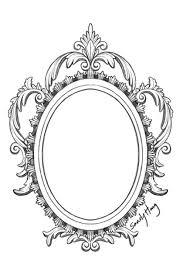 oval frame tattoo design. Amazing Grey Ink Frame Tattoo Design Oval A