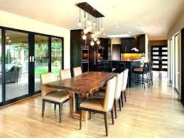 dining area lighting modern table room light fixture contemporary fixtures height above di