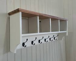hat coat rack with shelf including