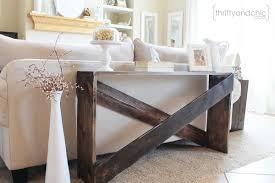 sofa table decor. Oversized Wooden Crosshatch Sofa Table Decor