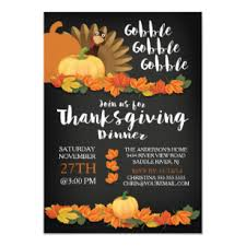 Free Online Thanksgiving Invitations Chalkboard Gobble Turkey Thanksgiving Invitation