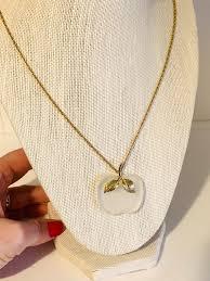 vintage avon pendant apple necklace
