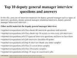 top deputy general manager interview questions and answers top 10 deputy general manager interview questions and answers documents tips sharing is our passion