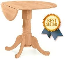 40 inch round pedestal dining table: quot round queen anne drop leaf pedestal dining table unfinishedfurnitureexpo