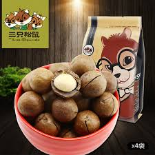 chinese special local three squirrels macadamia nut gift opener 185g 4bags free